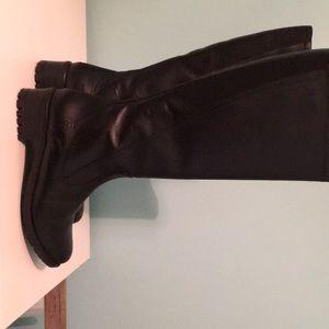 Black Santana Cananda waterproof leather boots